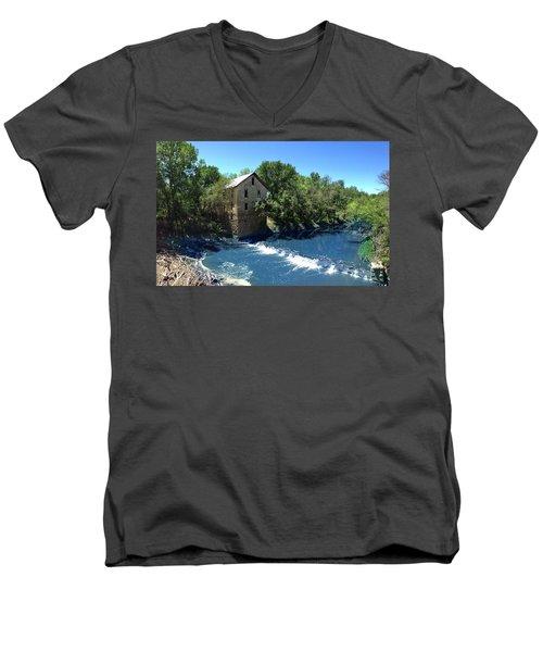 Abandoned Mill At Cedar Point Men's V-Neck T-Shirt
