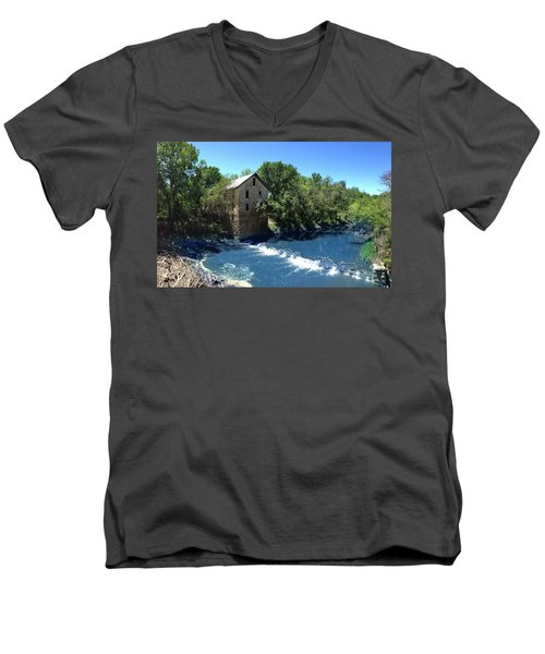Abandoned Mill At Cedar Point Men's V-Neck T-Shirt