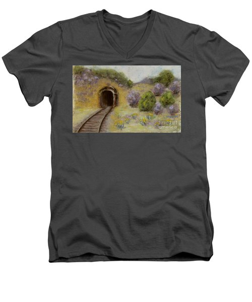 Abandoned Mine Men's V-Neck T-Shirt by Laurie Morgan