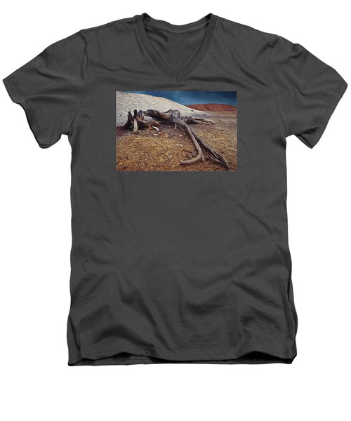 Men's V-Neck T-Shirt featuring the photograph Abandoned Quarry by Vladimir Kholostykh