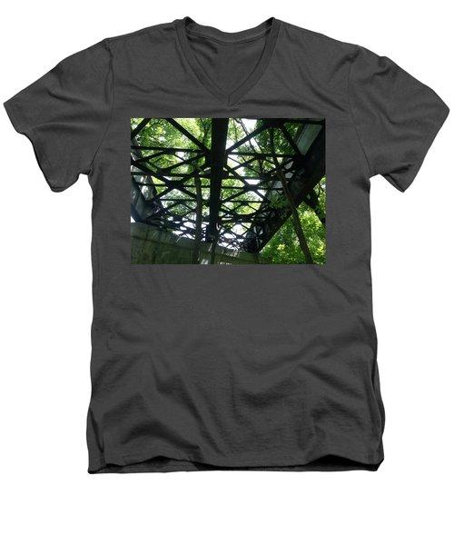Abandoned Railroad Bridge Men's V-Neck T-Shirt