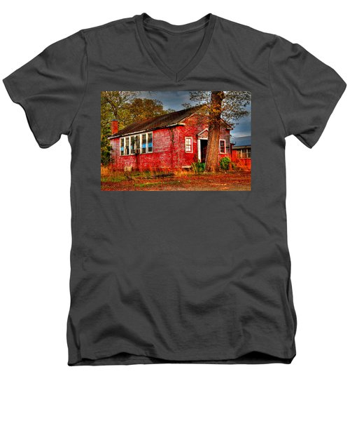 Abandoned School Building Men's V-Neck T-Shirt
