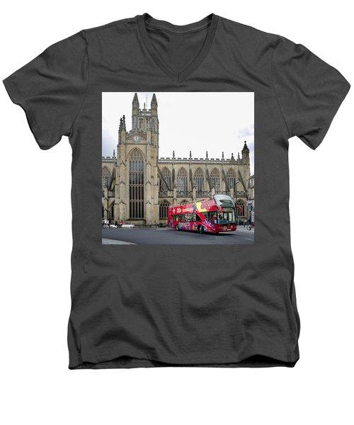 Abbey In Bath, Uk Men's V-Neck T-Shirt