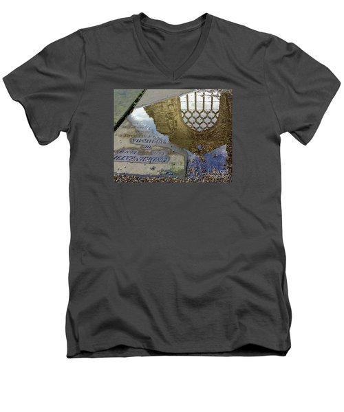 Abbey Ruins - Edinburgh Men's V-Neck T-Shirt by Amy Fearn