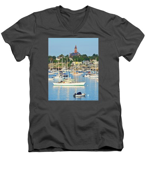 Abbot Hall Over Marblehead Harbor From Chandler Hovey Park Men's V-Neck T-Shirt