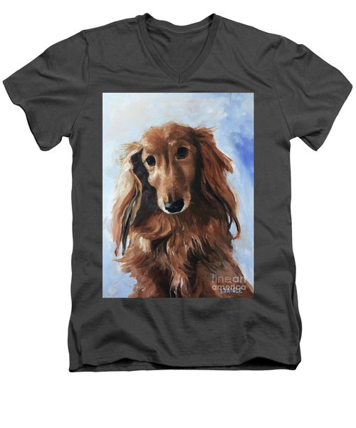 Abby Men's V-Neck T-Shirt by Diane Daigle