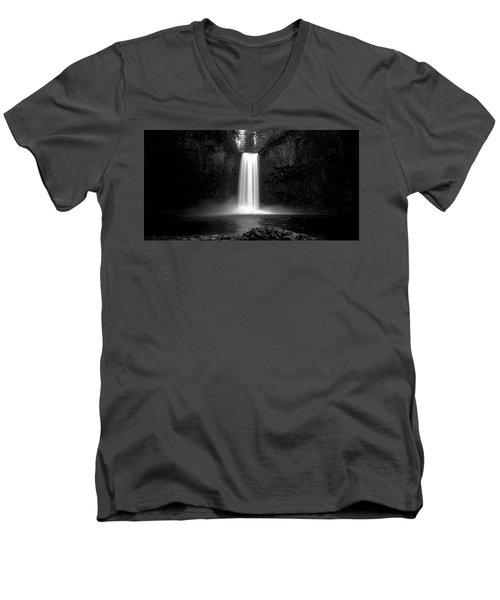 Abiqua's World Men's V-Neck T-Shirt by Bjorn Burton