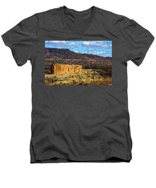 Abiquiu Church Men's V-Neck T-Shirt by Robert FERD Frank