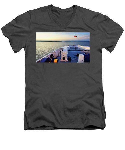 Aboard The Chi-cheemaun Men's V-Neck T-Shirt