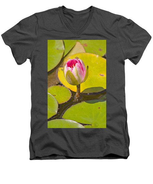 Men's V-Neck T-Shirt featuring the photograph About To Bloom by Peter J Sucy
