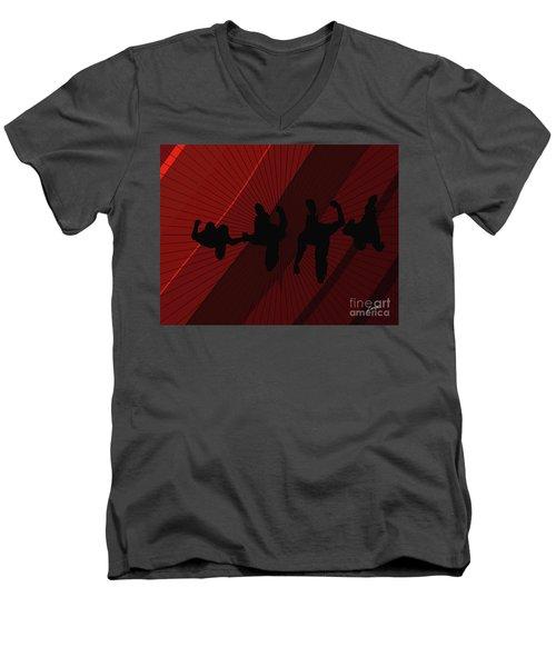 Above Perspective Men's V-Neck T-Shirt