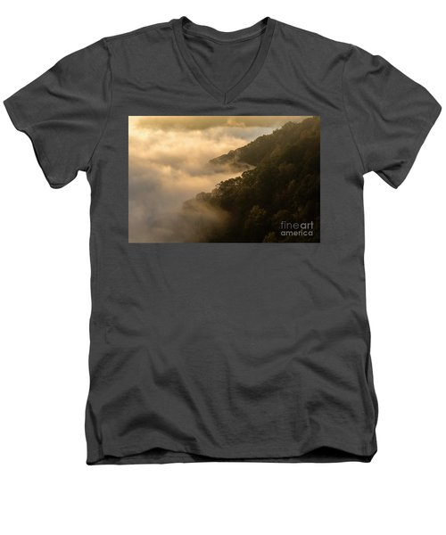 Men's V-Neck T-Shirt featuring the photograph Above The Mist - D009960 by Daniel Dempster