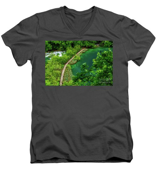 Above The Paths At Plitvice Lakes National Park, Croatia Men's V-Neck T-Shirt