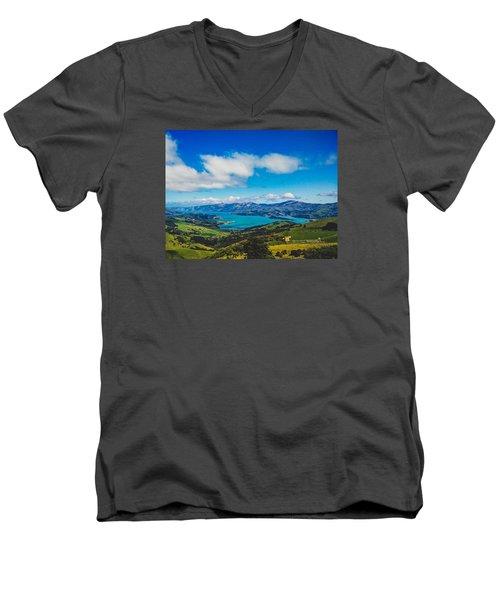 Above To Below Men's V-Neck T-Shirt