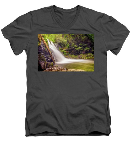 Abrams Falls Men's V-Neck T-Shirt by David Cote