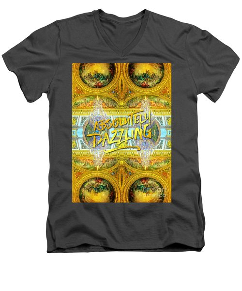 Absolutely Dazzling Hall Of Mirrors Versailles Palace Paris Men's V-Neck T-Shirt
