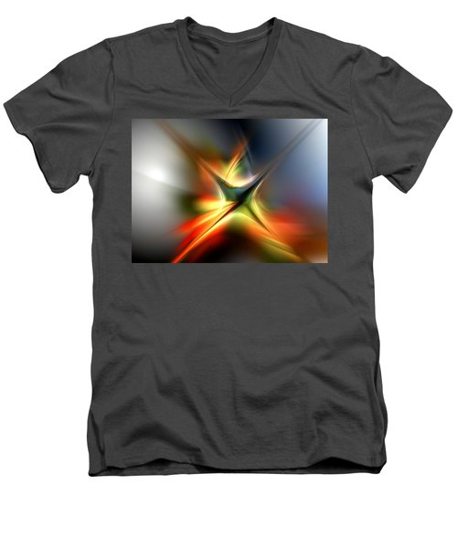 Abstract 060310a Men's V-Neck T-Shirt