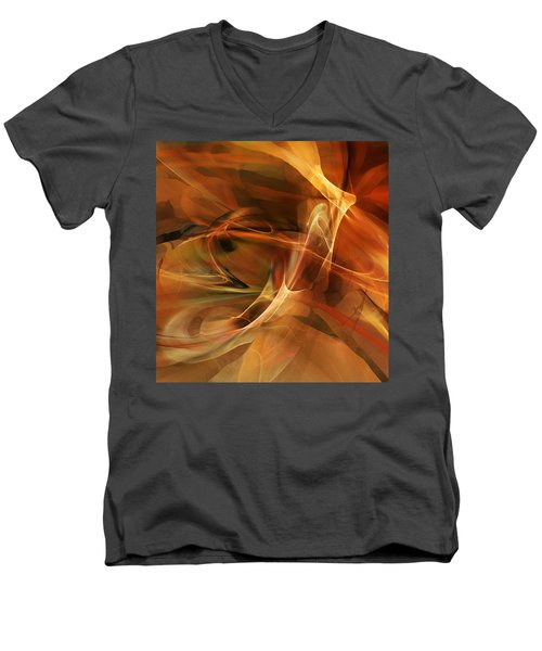 Abstract 060812a Men's V-Neck T-Shirt