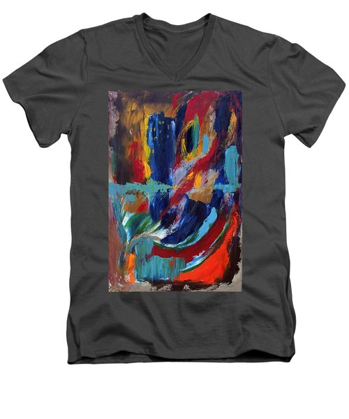 Abstract 1 Men's V-Neck T-Shirt