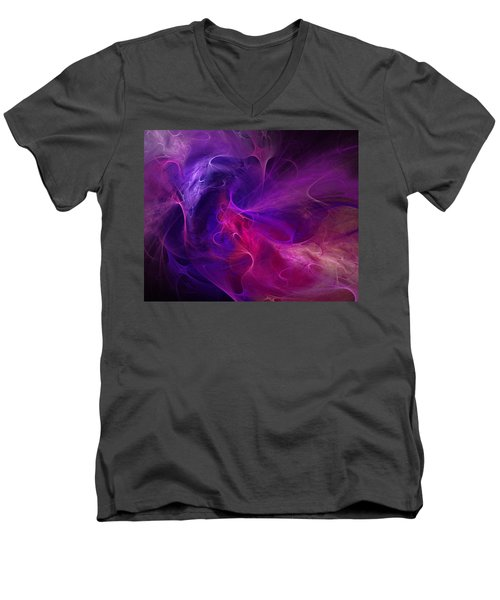 Abstract 111310b Men's V-Neck T-Shirt