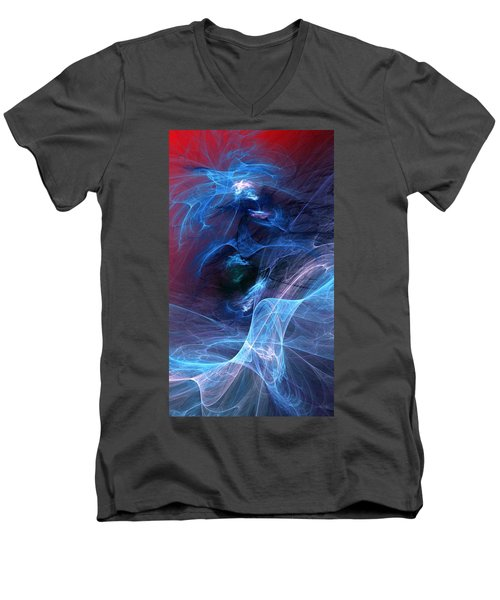Abstract 111610 Men's V-Neck T-Shirt