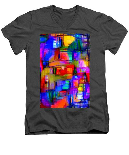 Abstract 1293 Men's V-Neck T-Shirt