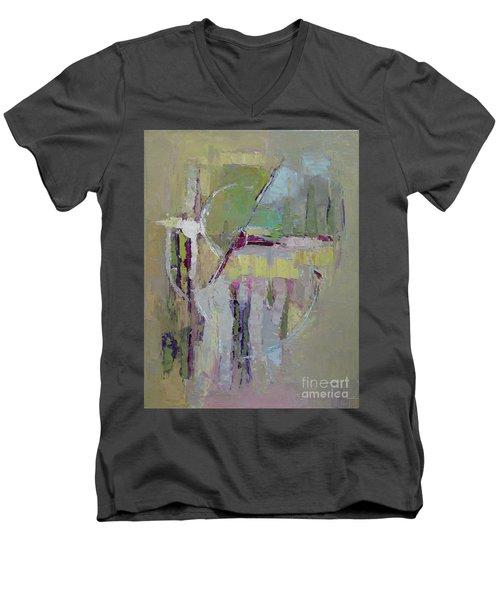 Abstract 1809a Men's V-Neck T-Shirt