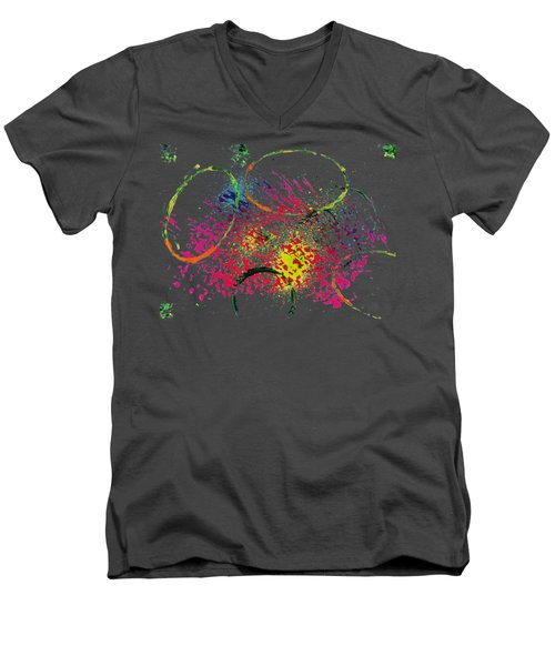 Abstract #2 Men's V-Neck T-Shirt by Lori Kingston