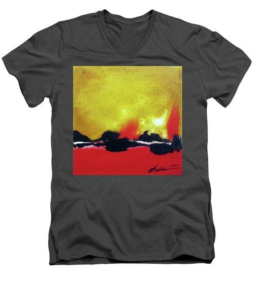 Abstract 201207 Men's V-Neck T-Shirt