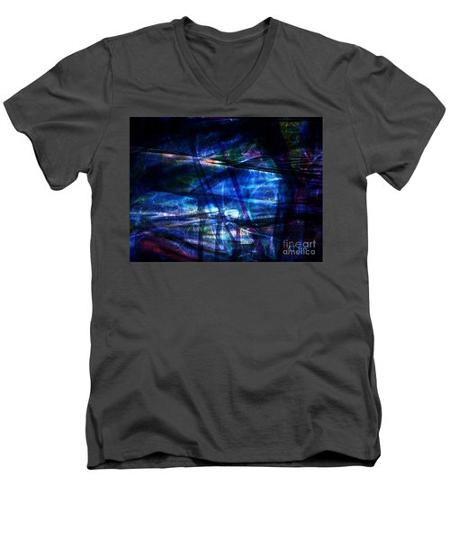Abstract-20a Men's V-Neck T-Shirt