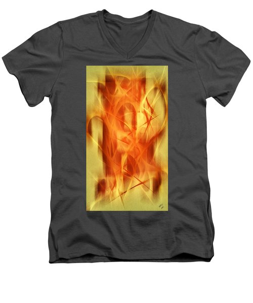 Abstract 293  Men's V-Neck T-Shirt