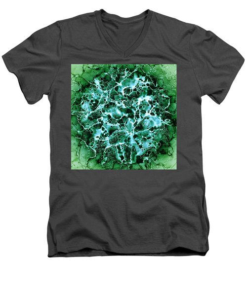 Abstract 3 Men's V-Neck T-Shirt by Patricia Lintner