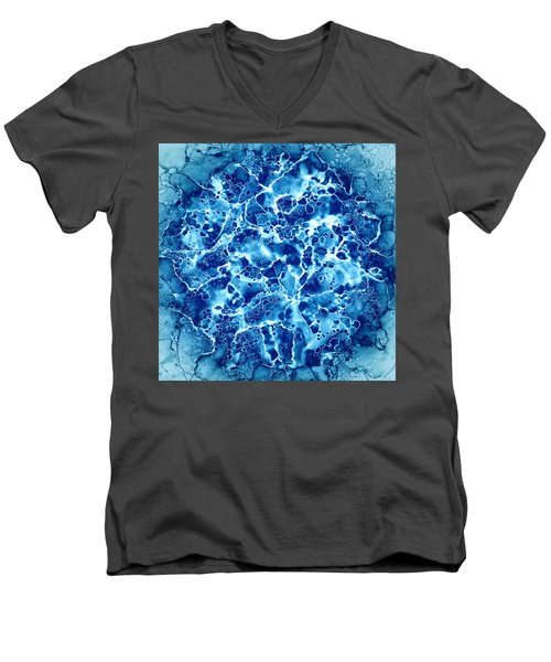 Abstract 5 Men's V-Neck T-Shirt by Patricia Lintner