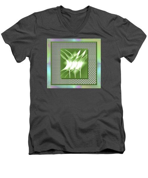 Abstract 54 Men's V-Neck T-Shirt by Iris Gelbart