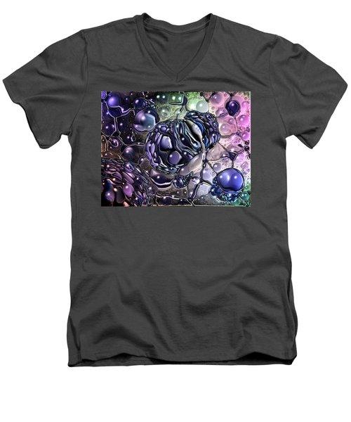 Cancer Killing Microbe Men's V-Neck T-Shirt
