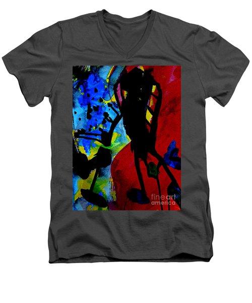 Abstract-7 Men's V-Neck T-Shirt