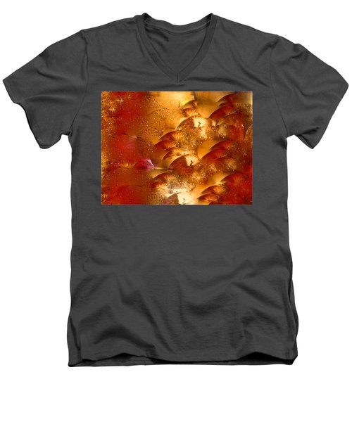 Abstract 70 Men's V-Neck T-Shirt