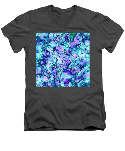 Abstract 8 Men's V-Neck T-Shirt by Patricia Lintner