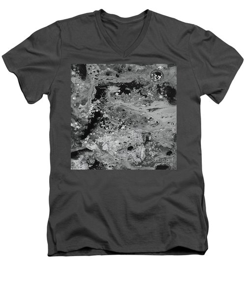 Abstract Acrylic Painting The Night Men's V-Neck T-Shirt by Saribelle Rodriguez