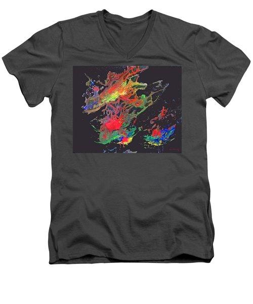 Abstract Andromeda Men's V-Neck T-Shirt
