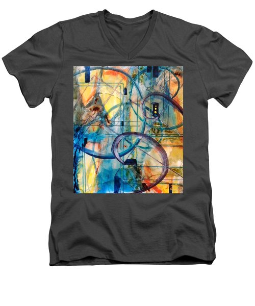 Abstract Appeal Men's V-Neck T-Shirt