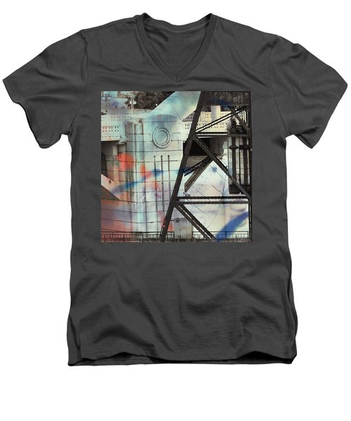 Abstract Architecture Men's V-Neck T-Shirt by Susan Stone