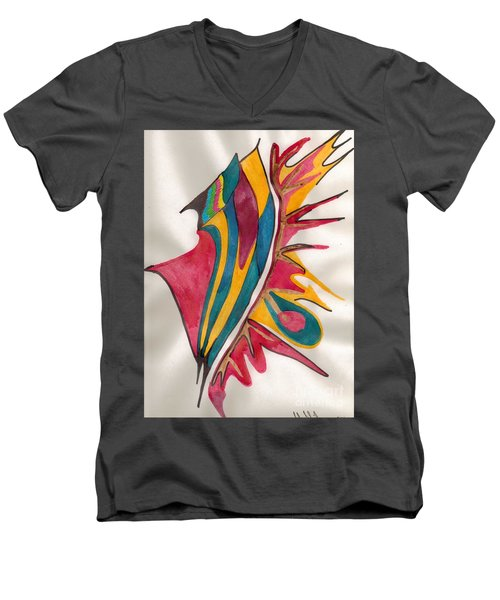 Abstract Art 102 Men's V-Neck T-Shirt