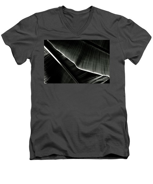Abstract Banana Leaf Men's V-Neck T-Shirt