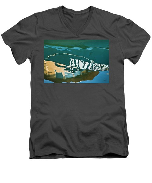 Abstract Boat Reflection Men's V-Neck T-Shirt