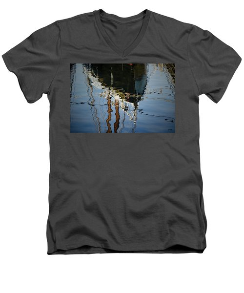 Abstract Boat Reflection IIi Men's V-Neck T-Shirt