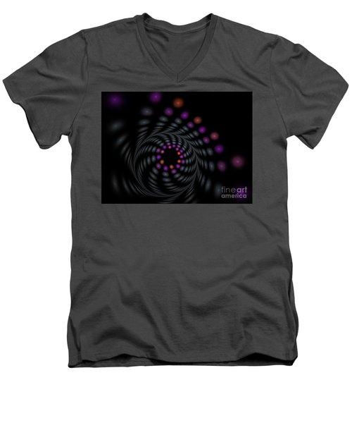 Abstract Carousel Men's V-Neck T-Shirt