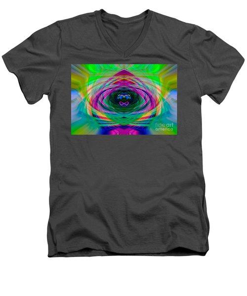 Abstract Catherine Wheel Men's V-Neck T-Shirt