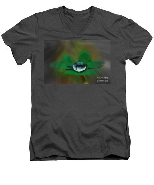 Abstract Clover Men's V-Neck T-Shirt by Kym Clarke