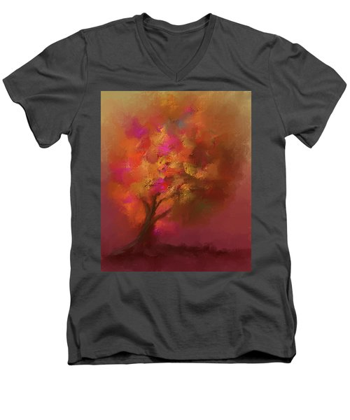Abstract Colourful Tree Men's V-Neck T-Shirt